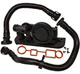 Bapmic PCV Positive Crankcase Ventilation Valve + Breather Hose Kit + Gaskets for Volkswagen VW Audi Jetta Passat A3 A4 TT