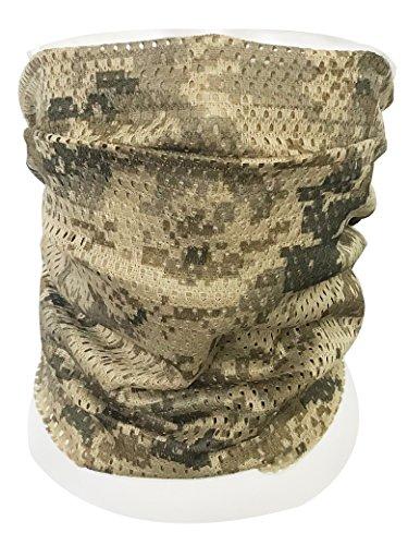 QMFIVE Taktischer Tarnungs-Schal, Unisex Mehrzweckmilitärstirnband-Art-Kopf-Verpackungs-Gesichts-Ineinander greifen-Halstuch für Kampf, Jagd, Klettern, Wandern, Radfahren im Freienaktivität (AOR1)