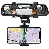 N NEWTOP ST15 Supporto Porta Reggi Pinza da Specchietto Retrovisore da Auto Macchina per Cellulare Smartphone