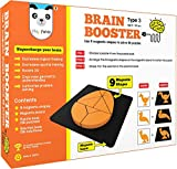 Play Panda Brain Booster Set 3 (Junior) - 56 Puzzles Designed to Boost Intelligence - with Magnetic Shapes, Magnetic Board, Puzzle Book and Solution Book