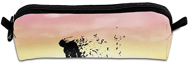 Pencil Box,Zombie Walking at Sunset,Pen Case Makeup Storage Bag,Office College School Students Stationery