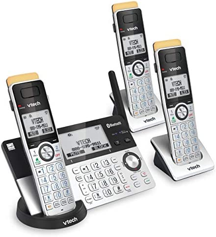 VTech IS8151 3 Super Long Range 3 Handset DECT 6 0 Cordless Phone for Home with Answering Machine product image