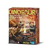 4MKidzlabs:DETERRE-Ton-Dinosaure(Velociraptor),SquelettedansUnBlocde plâtre,boîte17x22x6cm, 8+