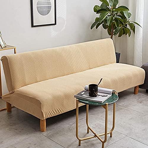 JYHS Funda de sofá sin brazos, funda elástica para sofá cama sin brazos, plegable sin reposabrazos para casa, hotel, cómodo