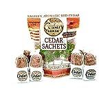 Cedar Sense Cedar Sachets 8 Pack – 100% All-Natural Cedar Chips – Car Air Freshener – Closet Freshener – Potpourri Bags – Air Fresheners – Sachets for Drawers and Closets
