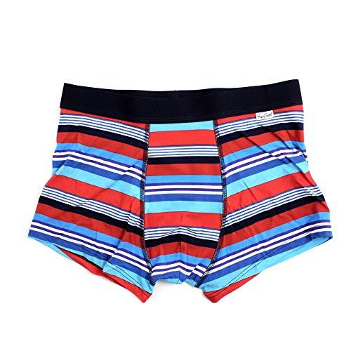 Happy Socks - Calzoncillos tipo bóxer para hombre, diseño de rayas, multicolor La ropa interior masculina está hecha de mezcla de algodón cómodo y transpirable.