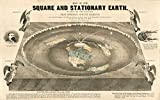 Riley Creative Solutions Flat Earth World Map (3 Sizes) 1893 Square and Stationary by Earth Orlando Ferguson Art Poster (23'x33')