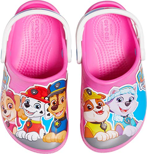 crocs Unisex-Kinder Fun Lab Paw Patrol Kids Clogs, Pink (Electric Pink 6qq), 27/28 EU