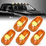 Cab Roof Marker Lights with Wire Harness, Nifeida 16 LEDs Amber Cab Marker Clearance Light Roof Top Running Light Assembly Kit for 2003-2016 Dodge Ram 1500 2500 3500 4500 5500 (5 Pack) (Amber Lens)