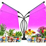 Grow Light, LED Grow Light, Grow Lights for Indoor Plants, Upgraded 80 LEDs Full Spectrum Plant Grow Light, 4 Heads Grow Lamp with Timer 360°Adjustable Gooseneck, 3/9/12 H Timer, for Indoor Plants