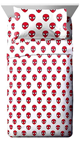 Jay Franco Marvel Spiderman Spidey Daze Full Sheet Set - 4 Piece Set Super Soft and Cozy Kid's Bedding - Fade Resistant Microfiber Sheets (Official Marvel Product)