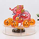 CXNY 15cm Dragon Ball Z metálico Mega Ultimate Shenron Dragon + 7Pcs 4cm Dragon Ball Crystal Ball + Shelf PVC Figura de acción Juguetes-Rojo