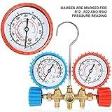 AC Diagnostic Manifold Freon Gauge Set de herramientas de aire acondicionado refrigerante para diagnóstico AC Manifold Gauge Set con manguera y gancho Kit