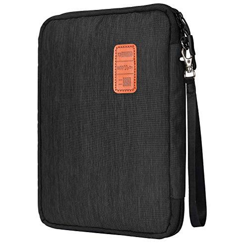 Gibot Borsa Accessori Elettronica, Impermeabile Viaggio Borsa Portatile Organizzatore Accessori Digitali Sacchetto Organizzatore con Scomparti per Smatphone Tablet Cavo USB