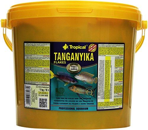 Tropical Tanganyika Flockenfutter Tanganyikaseecichliden, Tanganjika, 1er Pack (1 x 5 l)