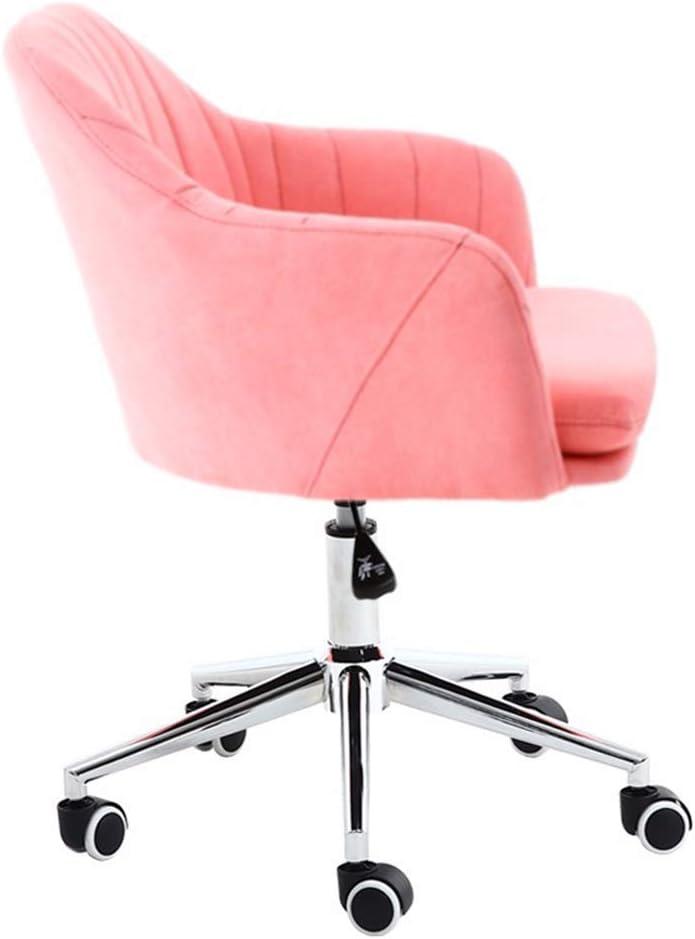 QNN Chaise de Bureau, Chaises de Bureau Chaise de Bureau Ergonomique, Avec Hauteur Réglable Et Coussin En Éponge Souple Pour Salle de Conférence de Bureau À Domicile,Vert Rose