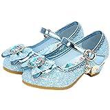 YOSICIL Disfraz Princesa Zapatos Frozen Elsa Zapatos de Lentejuelas Antideslizante Niñas Zapatos de...