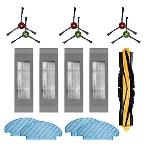 Filtro Spazzola Panno Pezzi di Ricambio Accessori Set per Aspirapolvere Robot Ecovacs DEEBOT OZMO T8 AIVI (15 Pezzi)