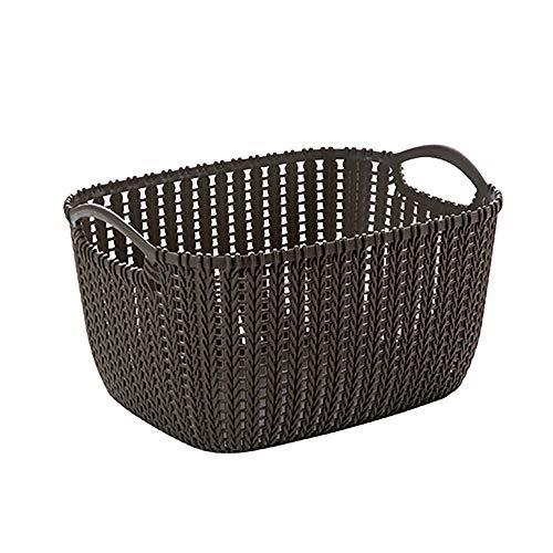 GAKIN 1 cesta de almacenamiento con asas, cesta para nevera, escritorio de baño