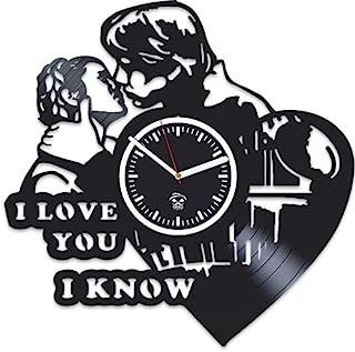 Kovides Star Wars Rebels, I love You, Best Gift for Boyfriend Vinyl Record, Vinyl Wall Clock Home Decor, Wall Clock Modern, Birthday Gift, Comics Marvel DC Movie, Silent Mechanism, Wall Sticker