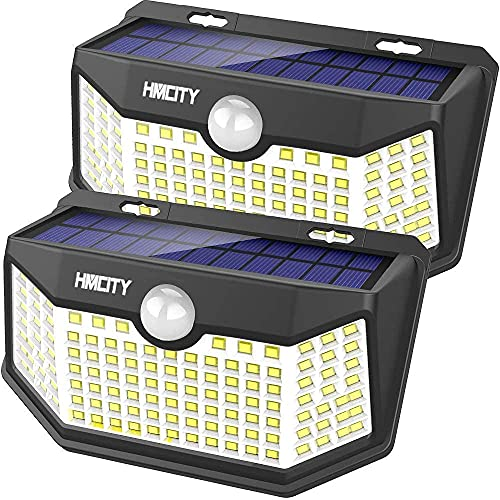 Hmcity Solar Lights Outdoor 120 LED with...