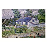 Vincent Van Gogh Houses At Auvers Puzzles for Adults, 1000 Piece Kids Jigsaw Puzzles Game Toys Gift for Children Boys and Girls, 20' x 30'