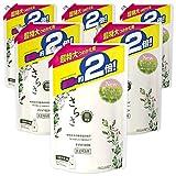 【ケース販売】さらさ 無添加 植物由来の成分入り 洗濯洗剤 液体 詰め替え 約2倍(1640g)×6袋