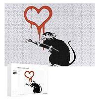 300ピース ジグソーパズル パズル 木製パズル 飾り画 Banksy バンクシー (5) 参考図付き 減圧玩具 頭脳練習 創造力 知育 子供 大人 ギフト プレゼント puzzle