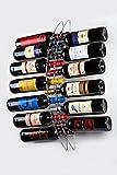 Botellero para vino de pared 13 botellas en metacrilato - Restaurante, bares, vinoteca, cocina, etc. - Organizador botellas montaje en pared moderno