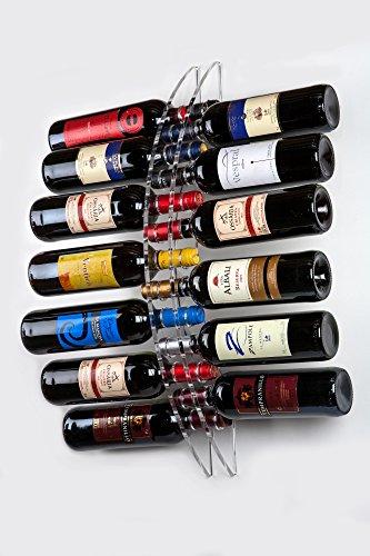 Portabottiglie da 13 Bottiglie Vino a Parete - Plexiglass / PMMA / Metacrilato trasparente - Porta Bottiglie da muro Design Moderno - 190 x 670 mm