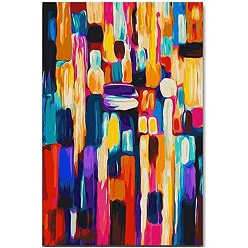 Xpboao Pintar por números - Sueño Abstracto Colorido bodegón - Pintura de Arte Moderno - Kit de Pintura de Bricolaje Adecuado para Adultos y Principiantes - 40x50cm - Sin Marco