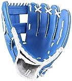 LANSONTECH Guante de béisbol Guantes de softbol, Guantes Deportivos de bateo con manopla de Mano Izquierda de Cuero PU de béisbol para niños, jóvenes y Adultos (Azul, 12,5 Pulgadas)