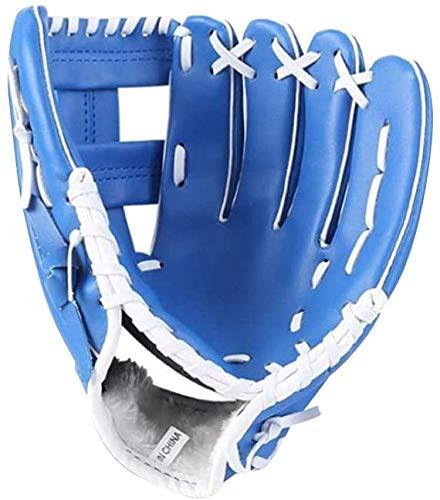 LANSONTECH Baseball-Handschuhe, Softball-Handschuhe, Sport-Batting-Handschuhe mit Baseball-PU-Leder, linke Hand, Fänger-Handschuh für Kinder, Jugendliche und Erwachsene (blau, 10,5)