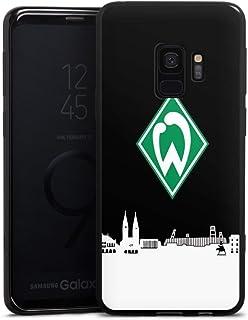 DeinDesign Silikon Hülle kompatibel mit Samsung Galaxy S9 Case schwarz Handyhülle Offizielles Lizenzprodukt Skyline SV Werder Bremen