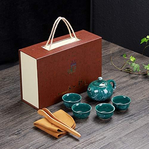 AMYAO Tetera Teapot Juego de té Kungfu de Viaje Hecho a Mano, Tetera Vintage China, Porcelana (Embalaje Exquisito) (Color : B)
