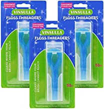 Floss Threaders for Braces, Bridges, and Implants 150 Count (Pack of 3)