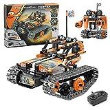 GPTOYS Baustein Roboter Ferngesteuertes Auto Spielzeug, 3 in 1 STEM Technik Weihnacgtengeschenkes für Kinder ab 8 Jahren,392 Stück