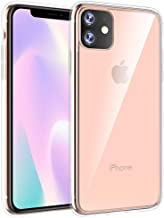 Qcasenice I Phone 11 Clear Case Compatible with Apple iPhone 11 Cover 11R Iphone11 Iphone11R Luxury Iohone IP Iph Funda Coque Slim 6.1 Inch (Clear)