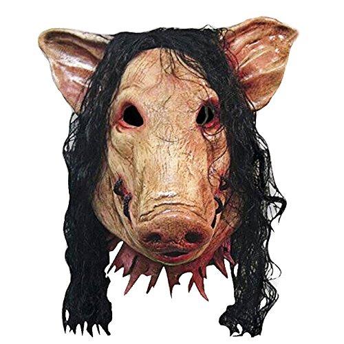 Schwein Scary Latex Maske Halloween Party Creepy Cosplay Karneval Maskerade Kostüm