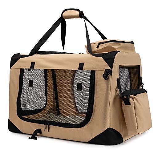 Zedelmaier Faltbare Hundebox Transportbox Hundekäfig mit verschiedenen Größen und Farben (S - 50 x 35 x 35 cm, Schwarz)
