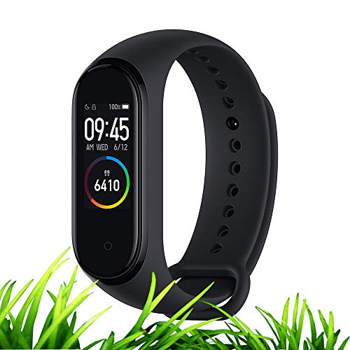 Xiaomi Mi Band 4 Global English AMOLED Color Screen Fitness Tracker Smart Watch Sport Wristband Bracelet Heart Rate Monitor Activity Workout Pedometer Weather Forecast Reminder Sleep