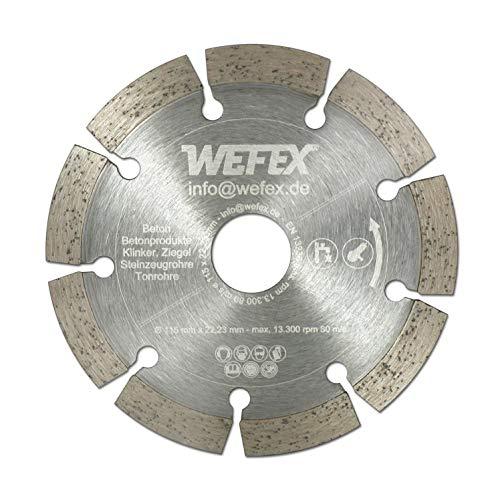 WEFEX Diamant-Trennscheibe Eco-Beton 115 mm x 22,2 mm Beton Mauerwerk Granit Naturstein