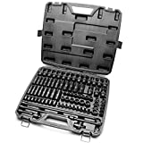 TIGHTSPOT 3/8' Drive 84pc Impact Socket MASTER SET, our Most Complete Set Ever with SAE & Metric from 1/4 Inch - 3/4 Inch, 6mm - 19mm, Standard/Deep/Universal and Star and Inverted Star Sockets & More