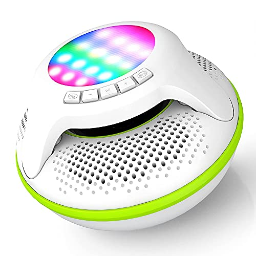 Pool Speaker IPX7 Waterproof Bluetooth Portable Wireless Floating Shower Speakers with Deep Bass and...