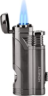 Torch Lighter Dual Jet Flame Refillable Butane Lighter Windproof Lighter with Punch..