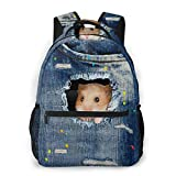 Lawenp Denim Hamster Travel Laptop Mochila Business Anti Theft Slim Durable Laptop Mochila Resistente al Agua...