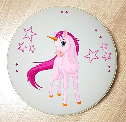Deckenleuchte/Wandlampe * Einhorn Unicorn Pferd 2 * auch LED - mit/ohne Name