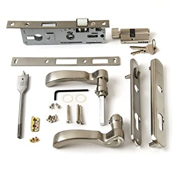 Andersen Storm Door Handle Assembly in Nickel Finish Traditional Style 2004 to Present