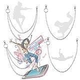 xianzhanEU 4 piezas de cadena de Jean de aleación de Hip Hop, adecuado para disfraz, sombrero, llavero, accesorios de decoración, etc. 3 estilos (una capa, doble capa/triple capa), unisex