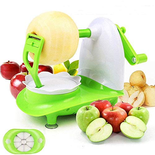 mciskin Apple Peeler,Multifunction Fruit Peeler,Rapid Manual Set with 8-Blade Slicer Apple Pear Peeler Five Second Peeling Machine